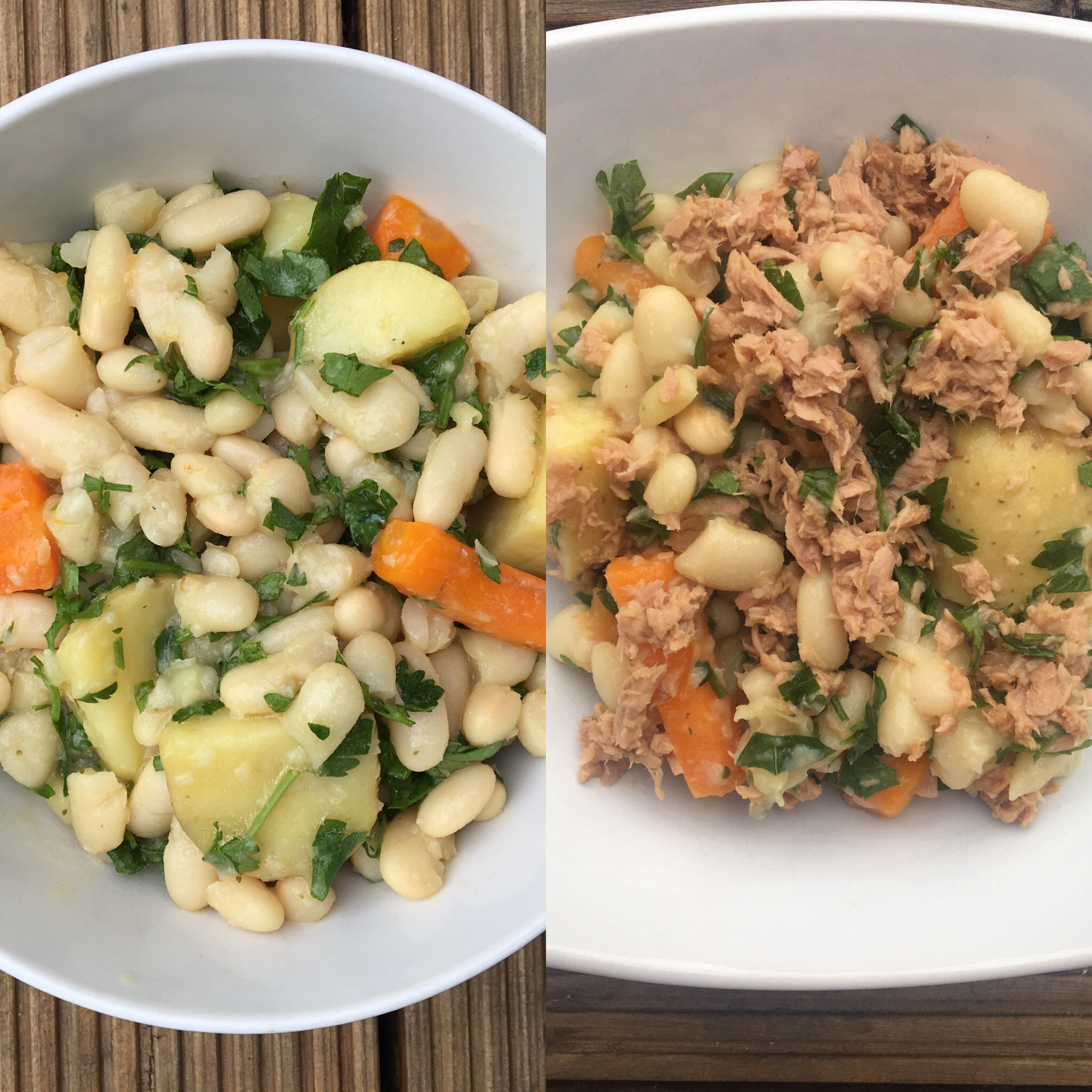 It's a Double Hitter – Bean Stew and Bean and Tuna Salad