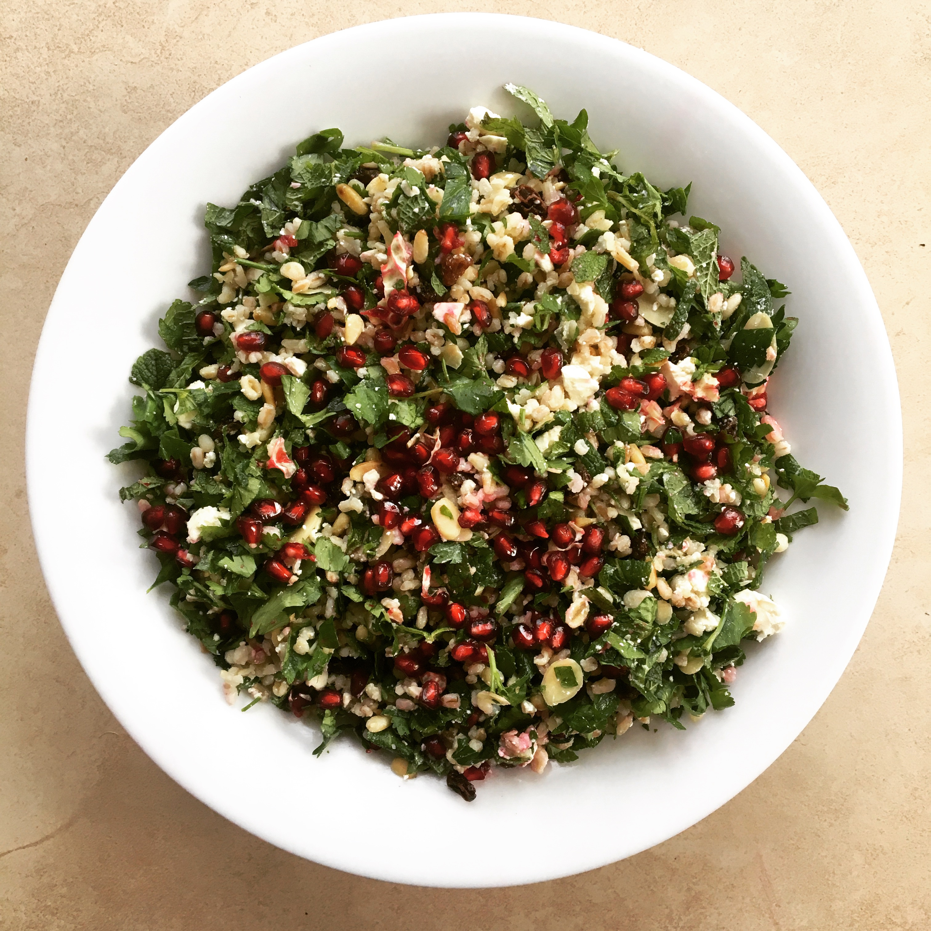 Pomegranate and Herb Salad
