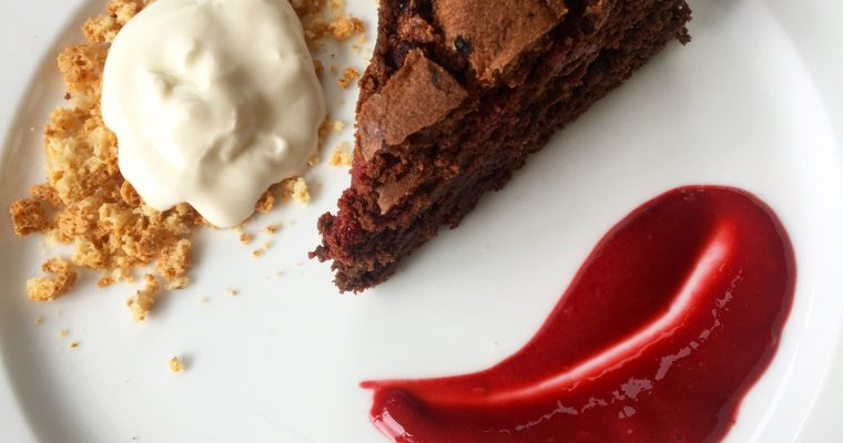 Chocolate and Raspberry Cake (gluten-free)