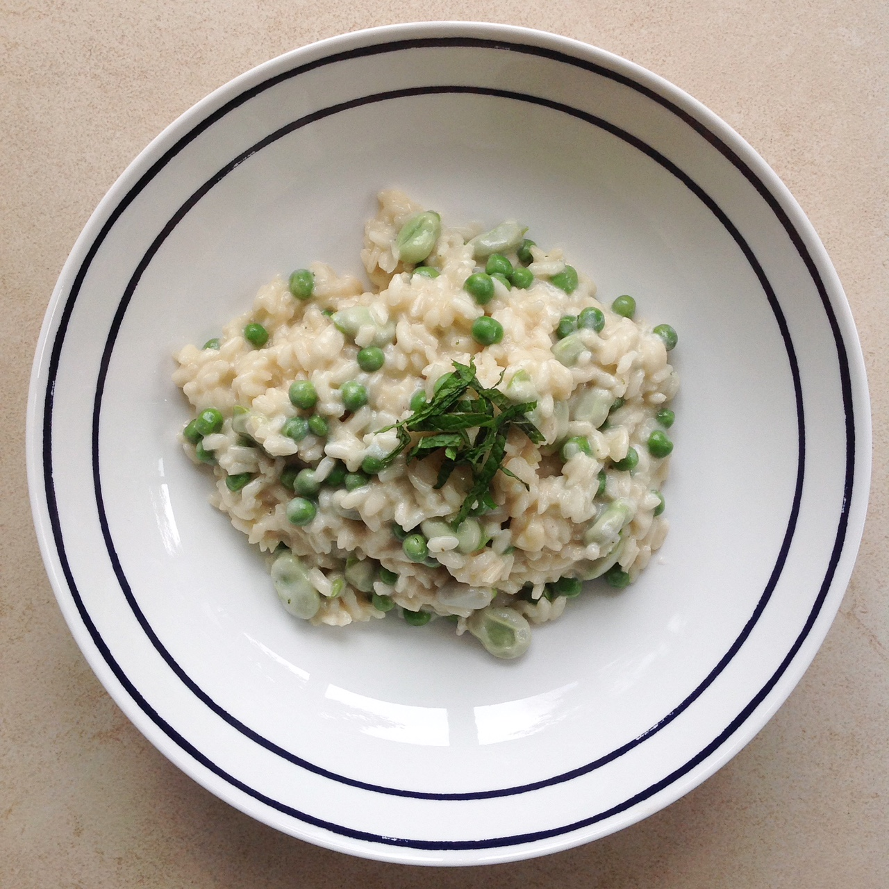 Pea and Broad Bean Risotto