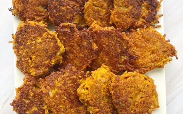 Indian style sweet potato fritters