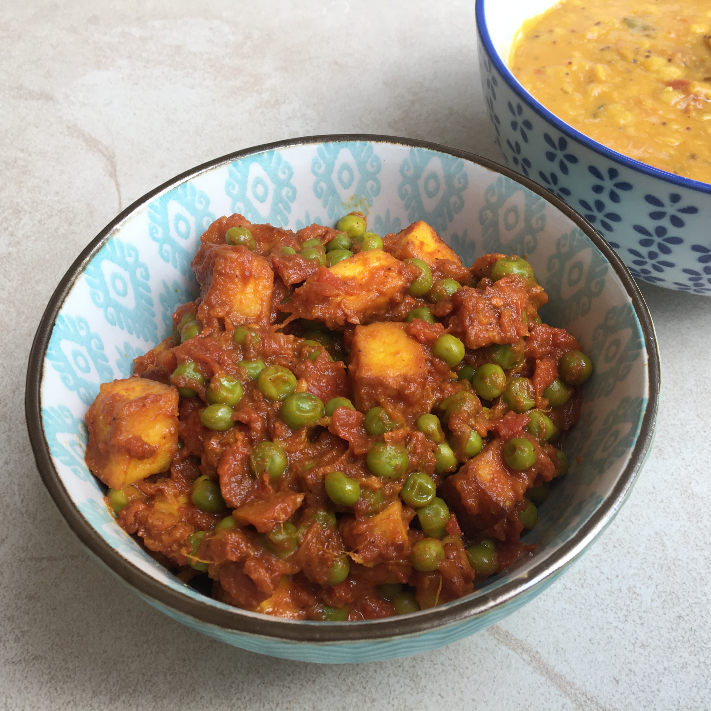 Indian Paneer with Peas (Mutter Paneer)