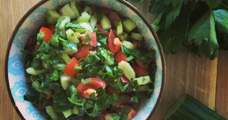 Tomato, Cucumber and Parsley Salad