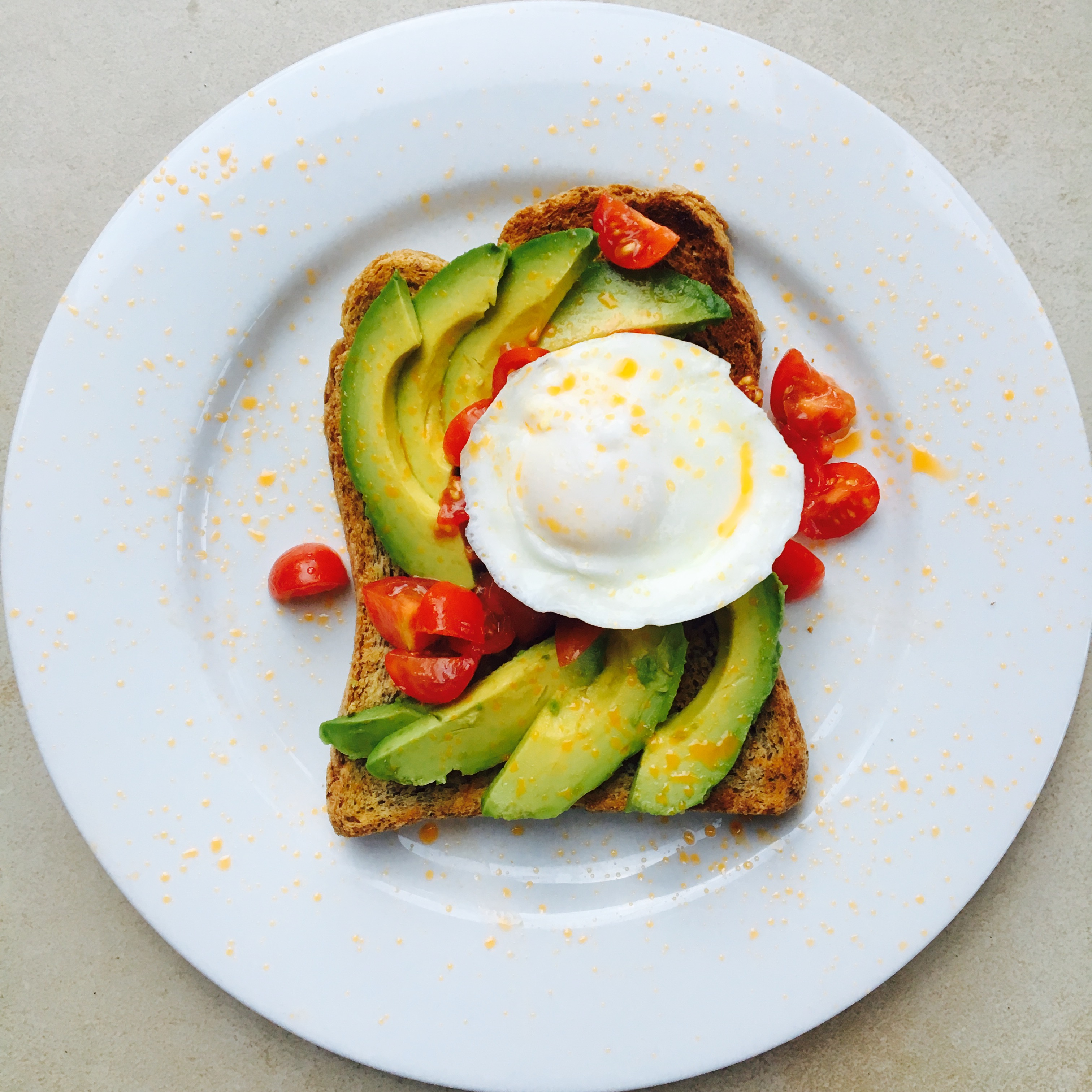 Avocado Toast with Tomato, Egg and Chilli