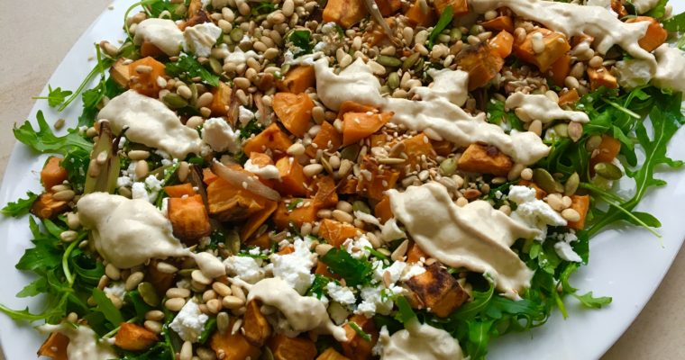 Sweet Potato, Seed and Tahini Salad