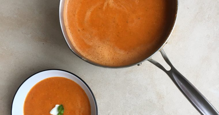 Easy Healthy Cream of Tomato Soup