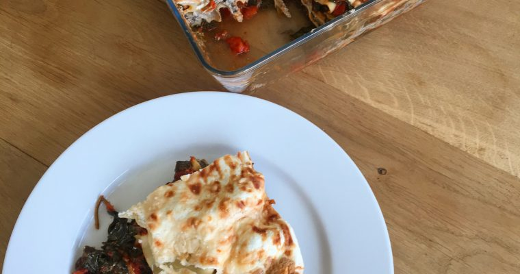 Vegetarian Spinach and Mushroom Lasagne