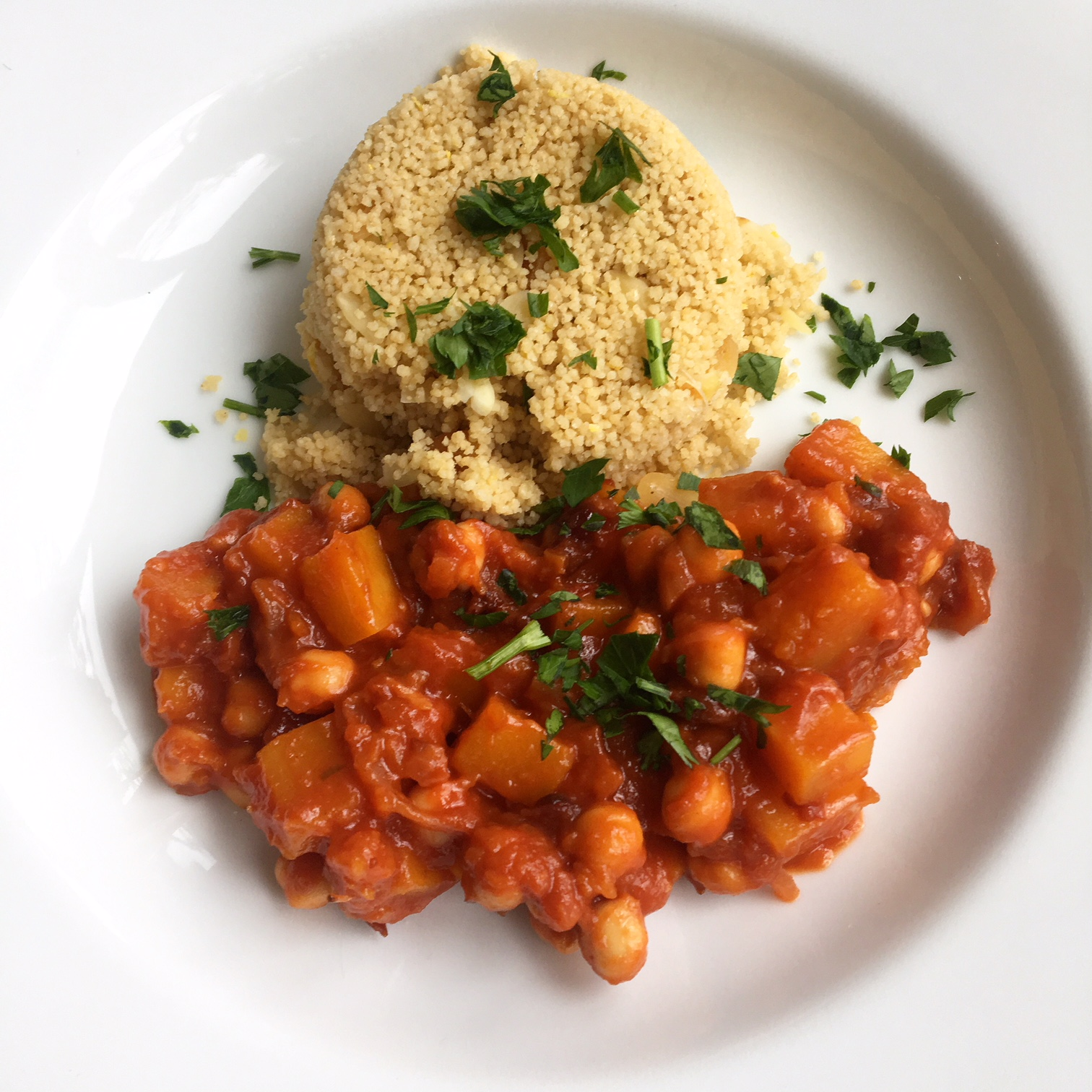 Chickpea and Squash Tagine