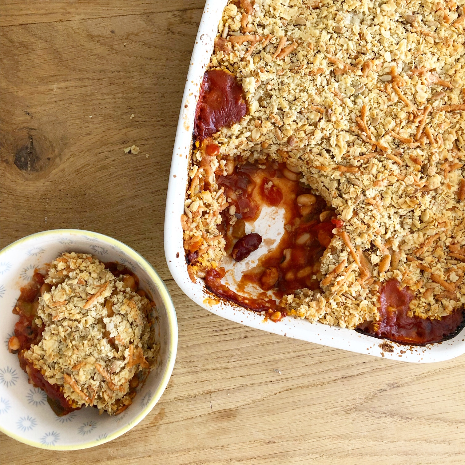 Herby Bean Crumble