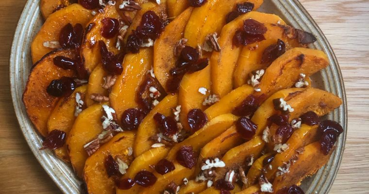 Baked Squash with Cranberries