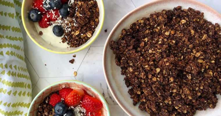 Dark Chocolate and Coconut Granola